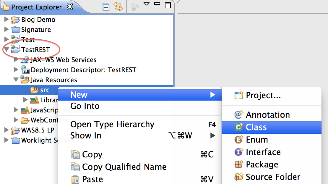 How to deploy REST based web services to Liberty Profile